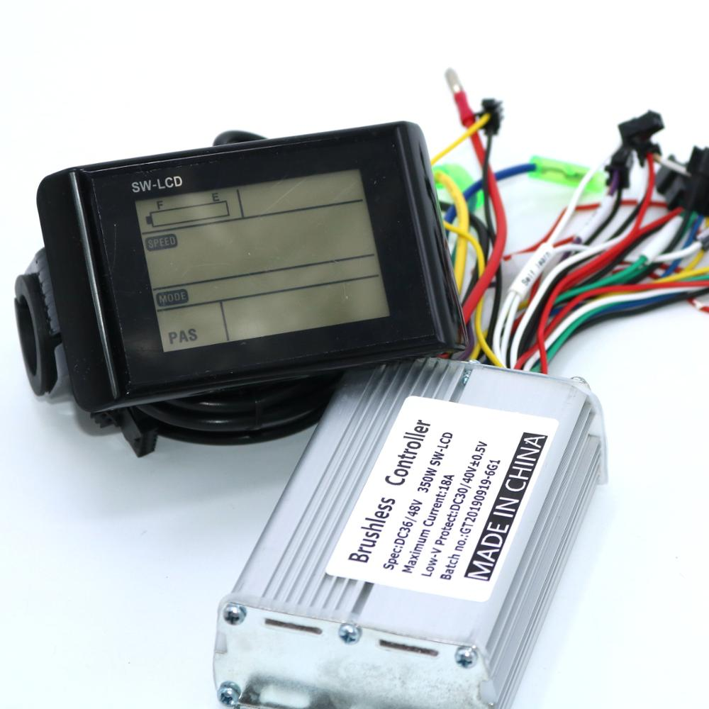 Greentime 36V 48V 350W 18A Brushless DC Motor Controller Ebike Controller +SW-LCD Display One Set