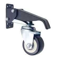נייד הגלגלים Heavy Duty גלגלית פלדה Stepdown 360 תואר Rotatable עבודת שולחן אוניברסלי אביזרי ריהוט עמיד חומרה