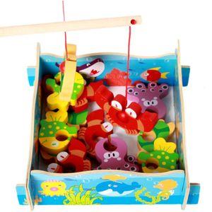 Kids Wooden Fishing Game Toys
