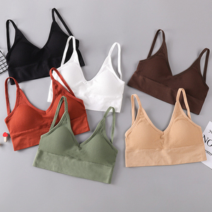 Image 2 - 2020 New Sports Bra Without Steel Ring Fashion Sports Gathering Sexy Beautiful Back Wrapped Chest Ladies Underwear Thin Cotton C