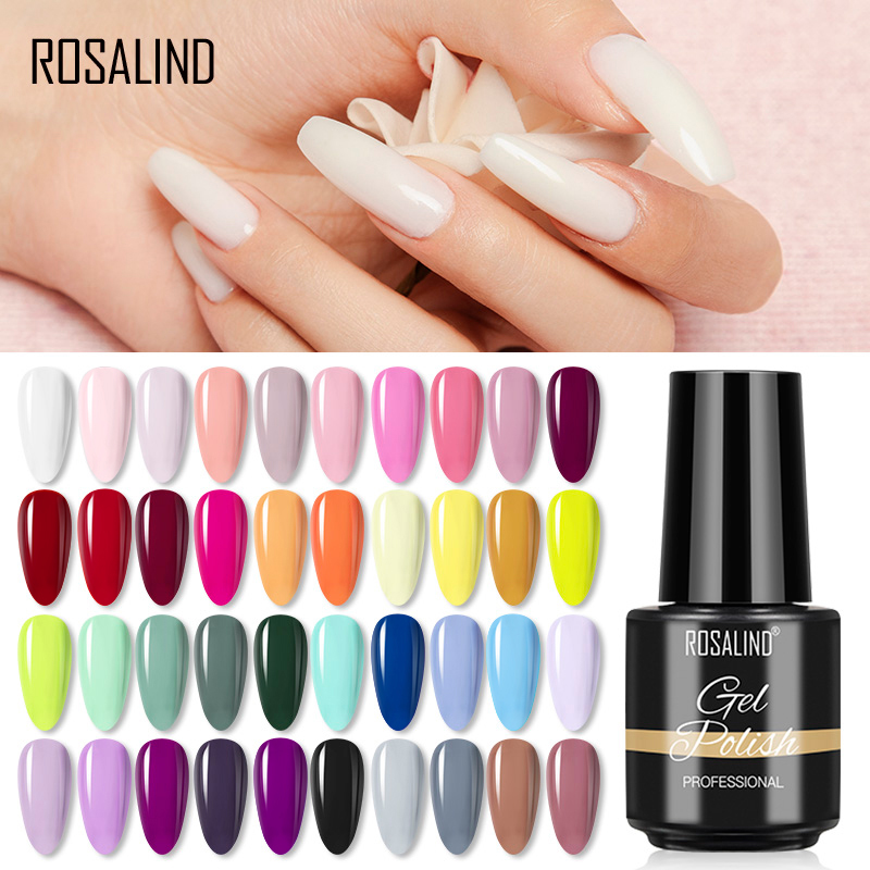 Гель-лак для ногтей ROSALIND, 7 мл, чистый лак для маникюра, нейл-арта, отмачиваемый Праймер, Полупостоянный Гель-лак Vanish Гибридный лак для ногтей
