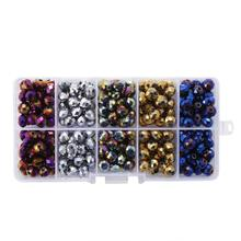 300pcs/set 8mm Glass Beads for DIY Necklace Bracelet Making Loose Jewelry Findings&Components