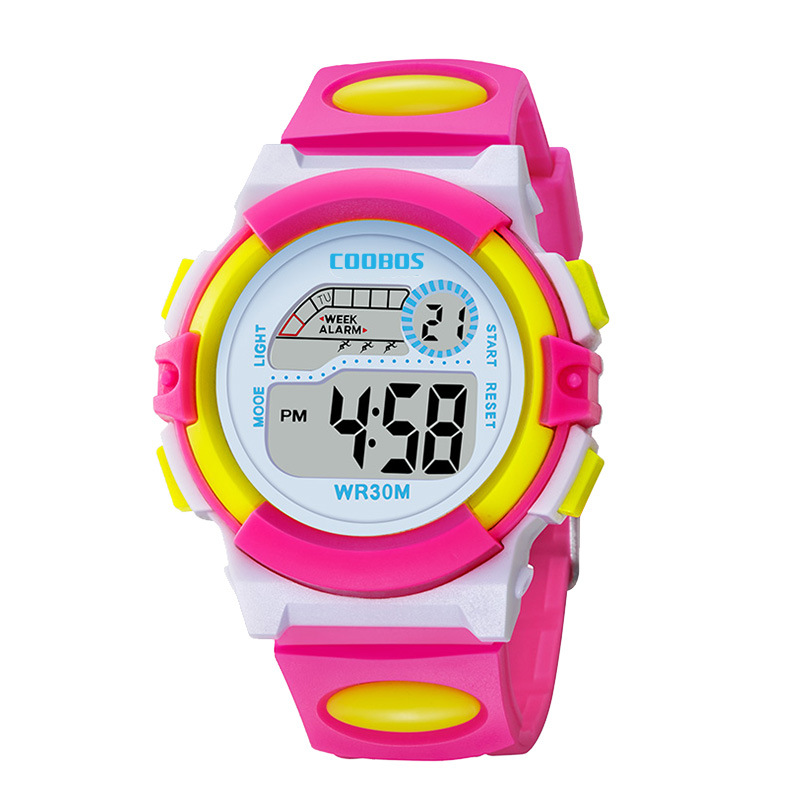 Waterproof Design Kids Watch Cute Pink Girl Digital Sports Led Watch  Date Alarm Week Show Electronic Watch Children Clock Reloj