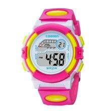 Waterproof Design Kids Watch Cute Pink Girl Digital Sports Led Watch Date Alarm Week Show Electronic Watch Children Clock reloj