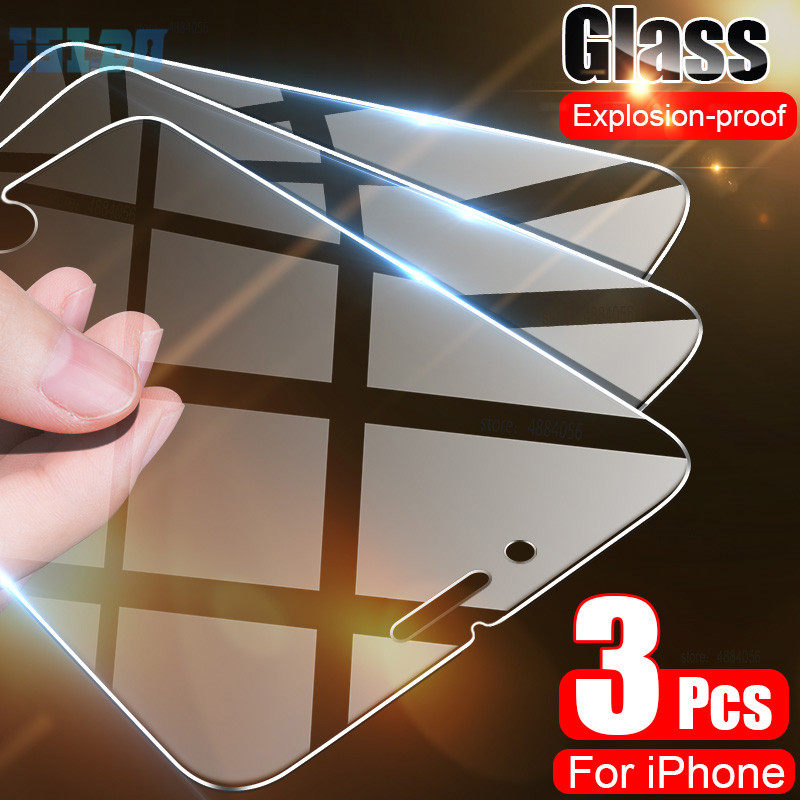 Tempered Glass For iPhone 7 8 6 6S Plus iPhone 11 7 5 5S SE 2020 Screen Protector Glass For iPhone 11 Pro Max X XS Max XR Glass