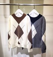 Runway Women Pullover Cashmere Sweater 2020 Fall Fashion Color Patchwork Sweaters Ladies Jumper