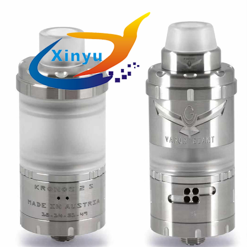 Presale Vapor Giant Kronos 2 S Rta Adjustable Airflow For MTL Or DL 4.0 Ml Topfill Tank 360 ° Logo Shield 316ss Atomizer