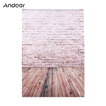 2*3m/6,6 * 9.8ft fondo de fotografía grande fondo de ladrillo patrón de suelo de madera para bebé foto de niños