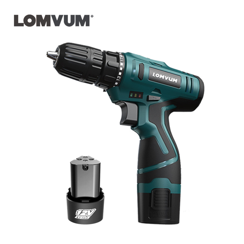 12V Mini Screwdriver Lithium Battery Two Speed Cordless Drill Wireless Electric Drill Bit Mini Electric Screwdriver Power Tools