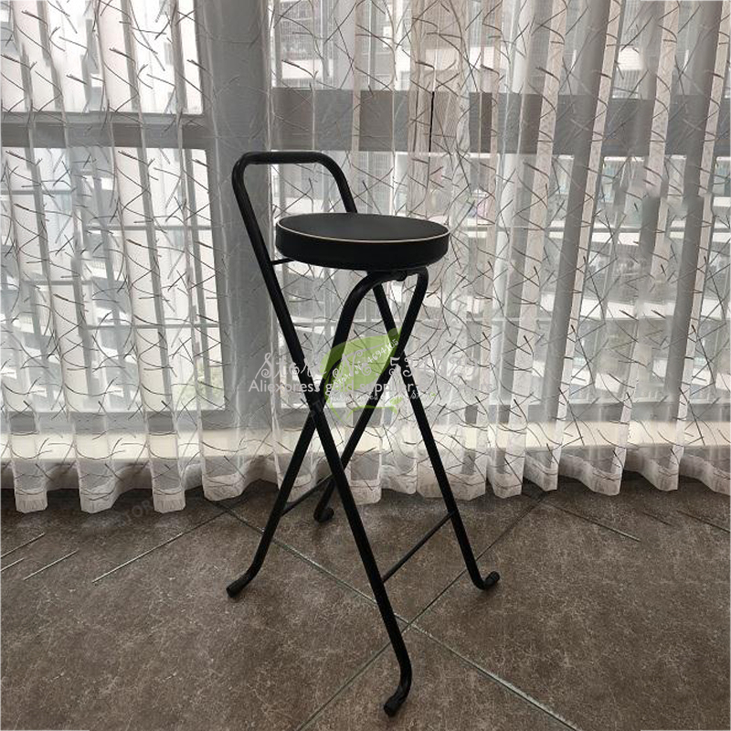 30%Iron Bar Chair Stool Bar Tabouret De Bar Bar Beauty Salon Furniture Dotomy Ultralight Foldable Fishing Chair Outdoor Foldable
