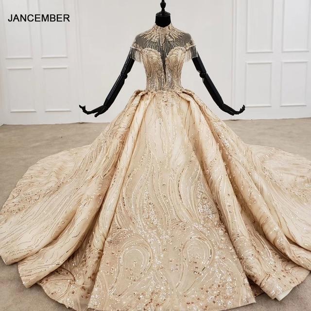 HTL1257 2020 long dresses evening high neck short sleeve beading tassel applique dubai evening dresses платье на выпускной new