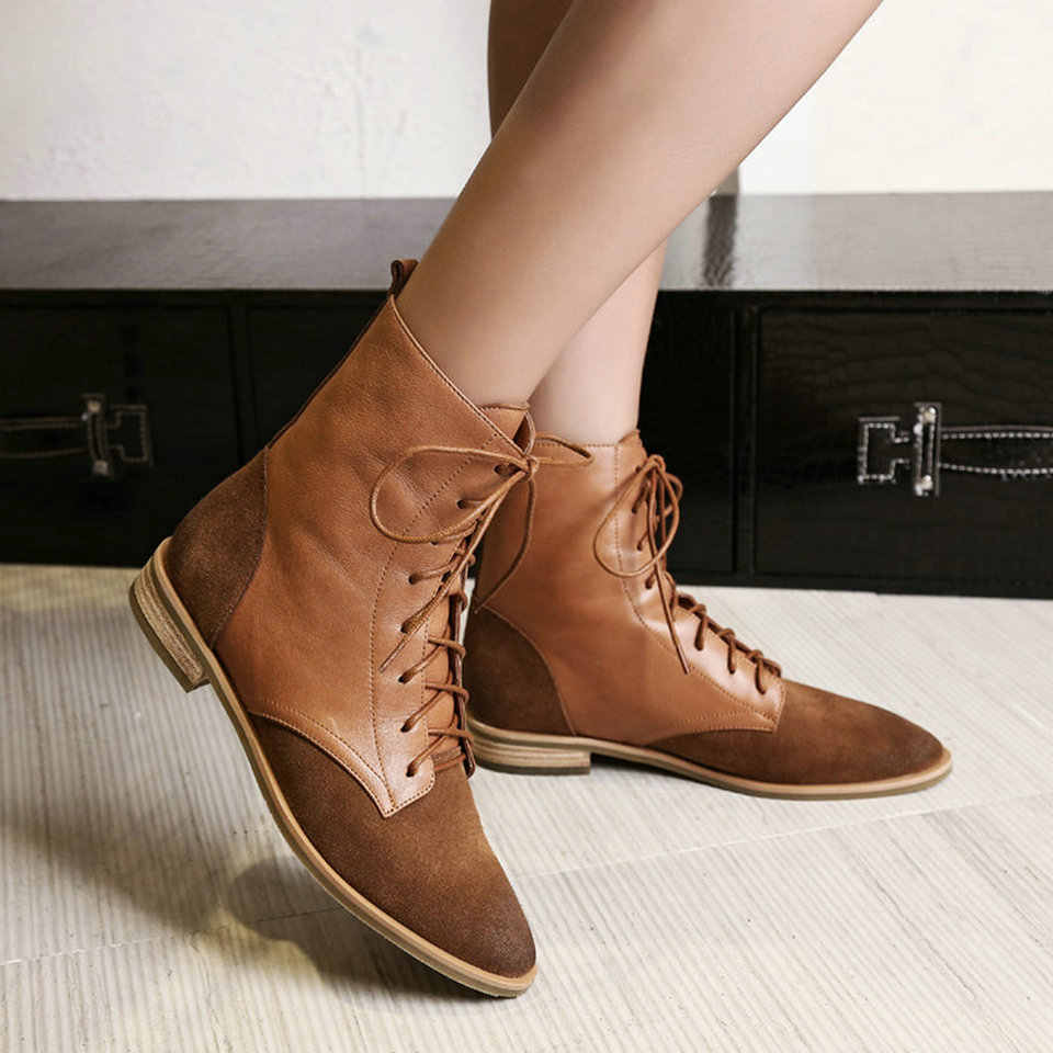 EshtonShero Women Ankle Boots Shoes