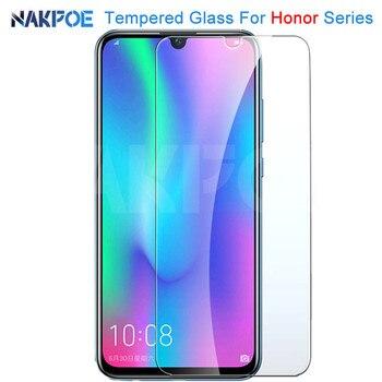Перейти на Алиэкспресс и купить 9H Защитное стекло для Honor 20 10 9 8 Lite закаленное защитное стекло для экрана Honor 9X 8X V30 V20 V10 прозрачная стеклянная пленка