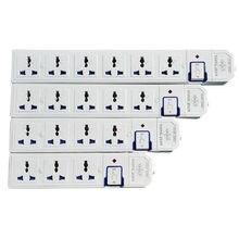 Multiprise électrique 1.5 W, 3500 M, 3, 4, 5, 6AC, prises universelles, prise US, EU, UK, AU CN, multiprise avec interrupteur