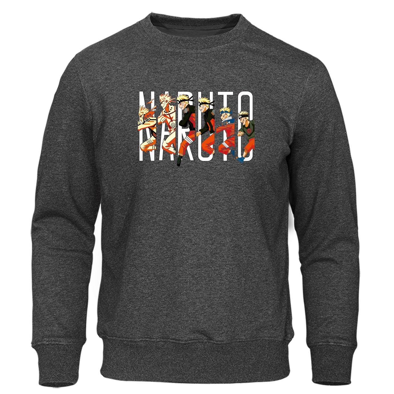 Japanese Anime Naruto Sweatshirt Men Hoodies Crewneck Pullover Fashion Hip Hop Men's Sweatshirts Winter Autumn Harajuku Hoody