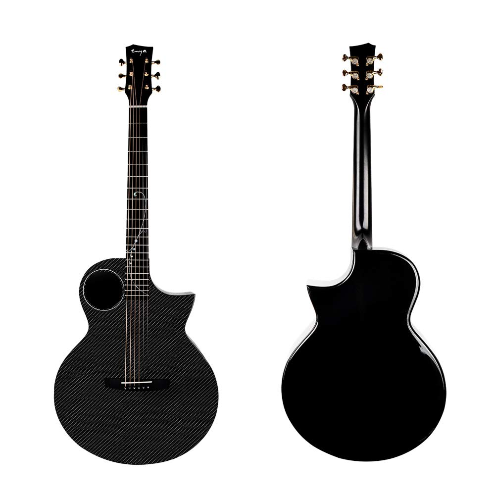 Enya X4 41 inch Carbon Fiber Acoustic/Electric Guitar Cutaway TransAcoustic Pickup installed Package With Case Free Shipping image