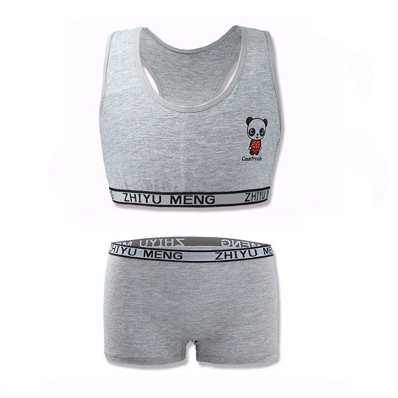Training Bras Set for Girls Teenage Underwear Set Cotton Underwears for Girls Bra for Teens Children Bras 8-14ears