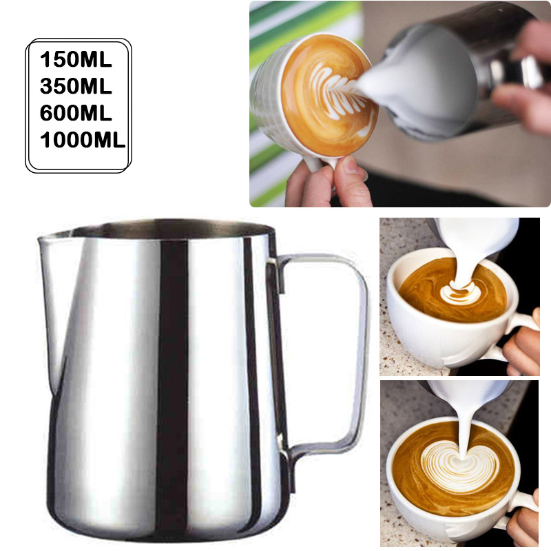 Stainless Steel Milk Frothing Jug Espresso Coffee Pitcher Barista Craft Coffee Latte Milk Frothing Jug Pitcher 350 600 1000ml#25