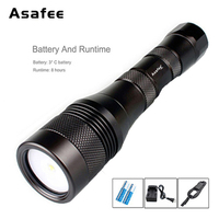 Asafee Dive Video LED Light CREE XM L2 LED Diving Scuba Flashlight Photography Diving Light with 18650 Battery Charger DIV01V