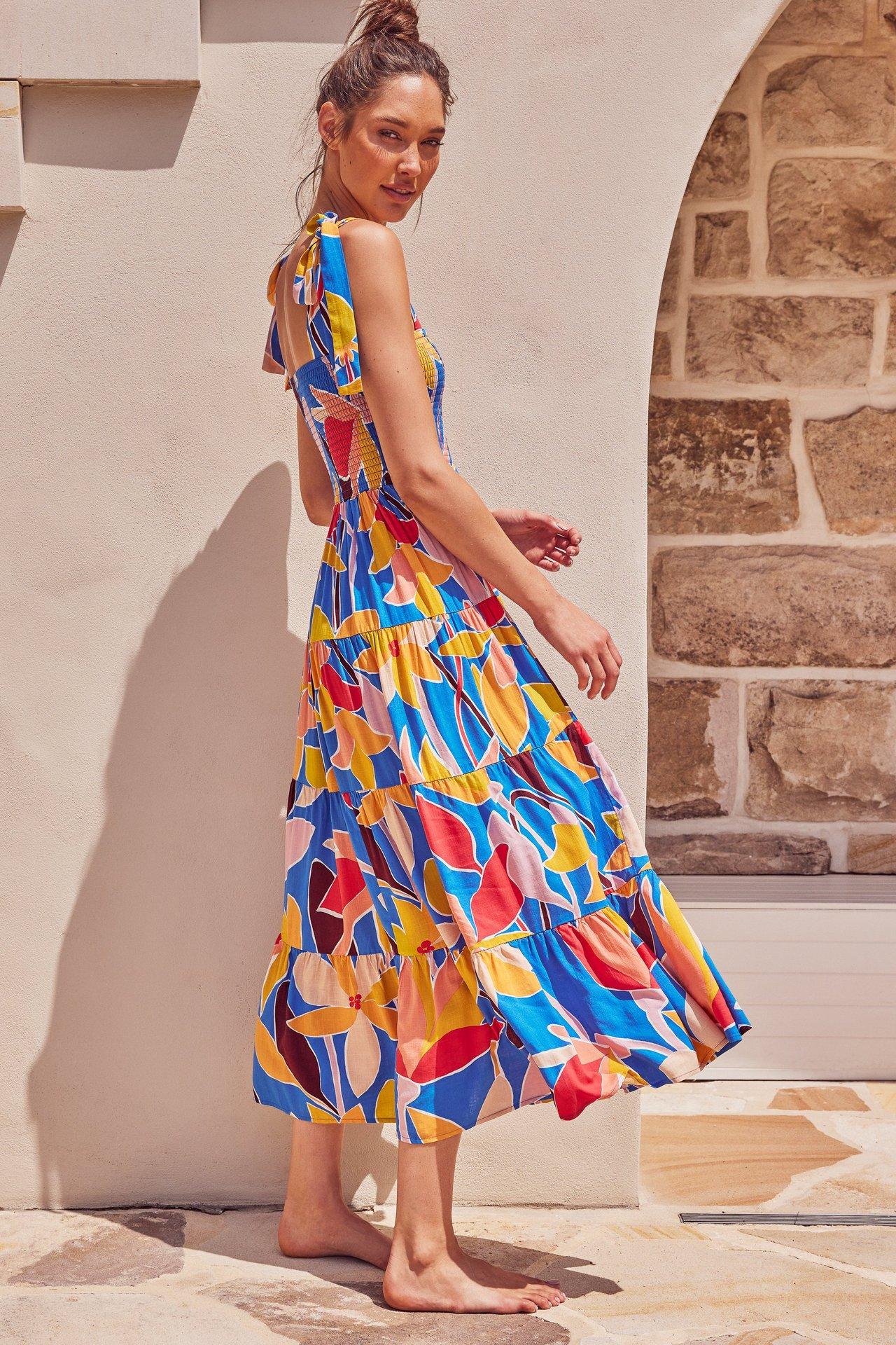 Fashion Summer Women Dress Square Neck Sling Print Sexy Halter Beach Dress Women's Casual Holiday Dresses 2021 New Vestidos 7