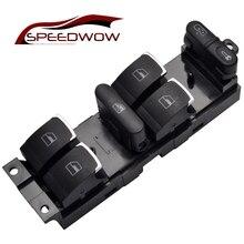 SPEEDWOW Interruptor maestro de control de ventanas eléctricas, conmutador con botones de ventana eléctrica, compatible con VW 99 04 GTI Golf 4 Jetta MK4 BORA BEETLE Passat B5 B5.5 3BD 959 857
