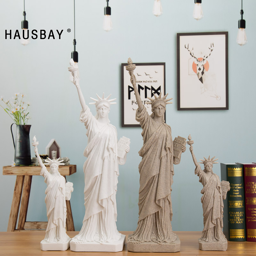 Statue Of Liberty Replica Model Sandstone Resin Figurines Creative Crafts Gift Desktop Wine Cabinet Decoration Ornaments D113