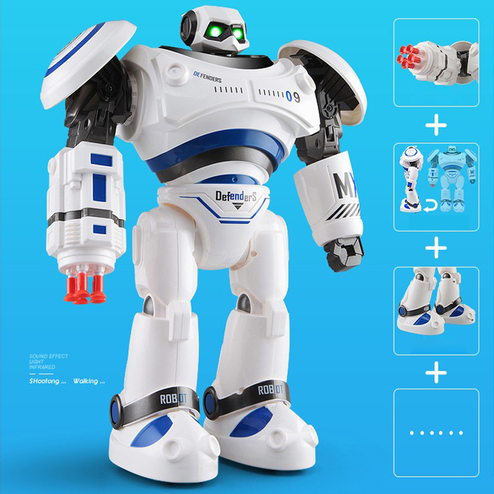SHAREFUNBAY AD Police Files Programmable Combat Robot and Intelligent RC Defender for Kids 3
