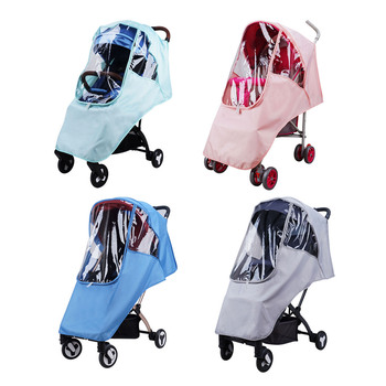 Baby Stroller Raincover Universal Pushchair Waterproof Windproof Raincoat Rain Weather Cover Shield Raincover Stroller Accessory фото