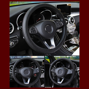Universal Leather Anti-Slip Car Steering Wheel Cover For Infiniti Q50 FX35 FX FX37 G37 G35 QX70 G35 Car Styling image