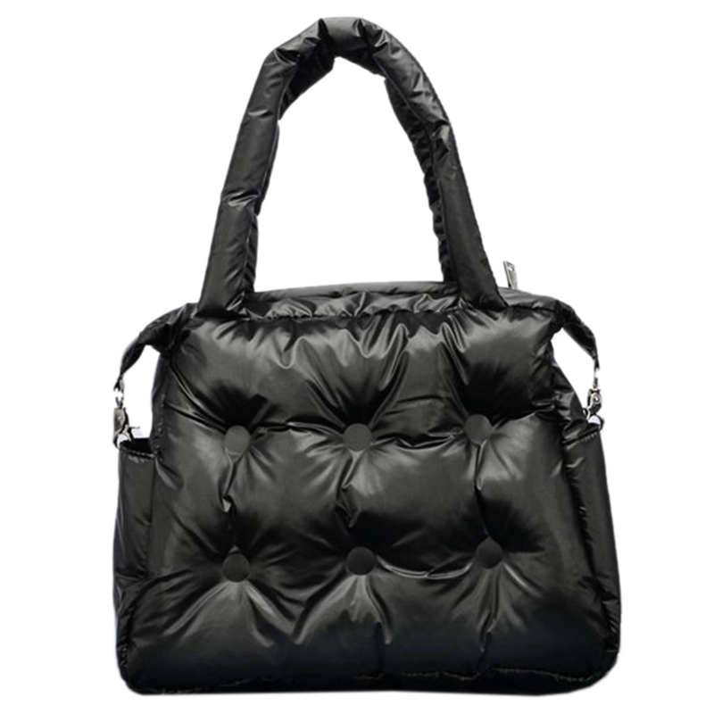 Winter Shoulder Tote Bag Space Cotton Down Bag Bucket Tote