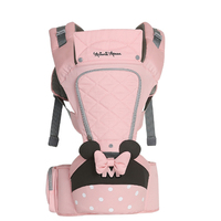 Disney 0 36 Months Bow Breathable Front Facing Baby Carrier Hipseat 20kg Infant Comfortable Sling Backpack Pouch Wrap Carriers