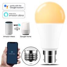 عكس الضوء 15 واط E27 واي فاي مصباح إضاءة ذكي LED مصباح App تعمل اليكسا جوجل مساعد التحكم الصوتي الاستيقاظ الذكية مصباح ضوء الليل