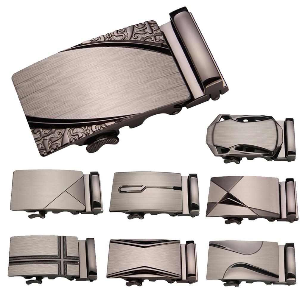 Belt Buckle Men Automatic Buckle Business Men Luxury Leather Waistband Buckles Men Waistband Ratchet Belt Buckle Without Belt