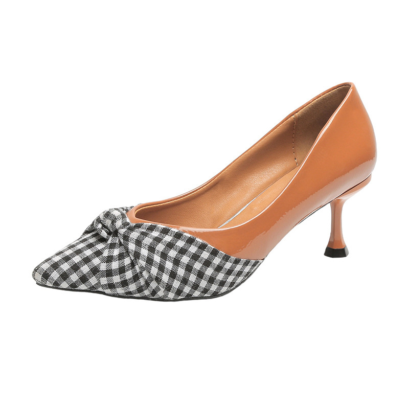 Single-Shoes High-Heels Pointed Autumn Korean-Fashion Women's New With Shallow-Mouth