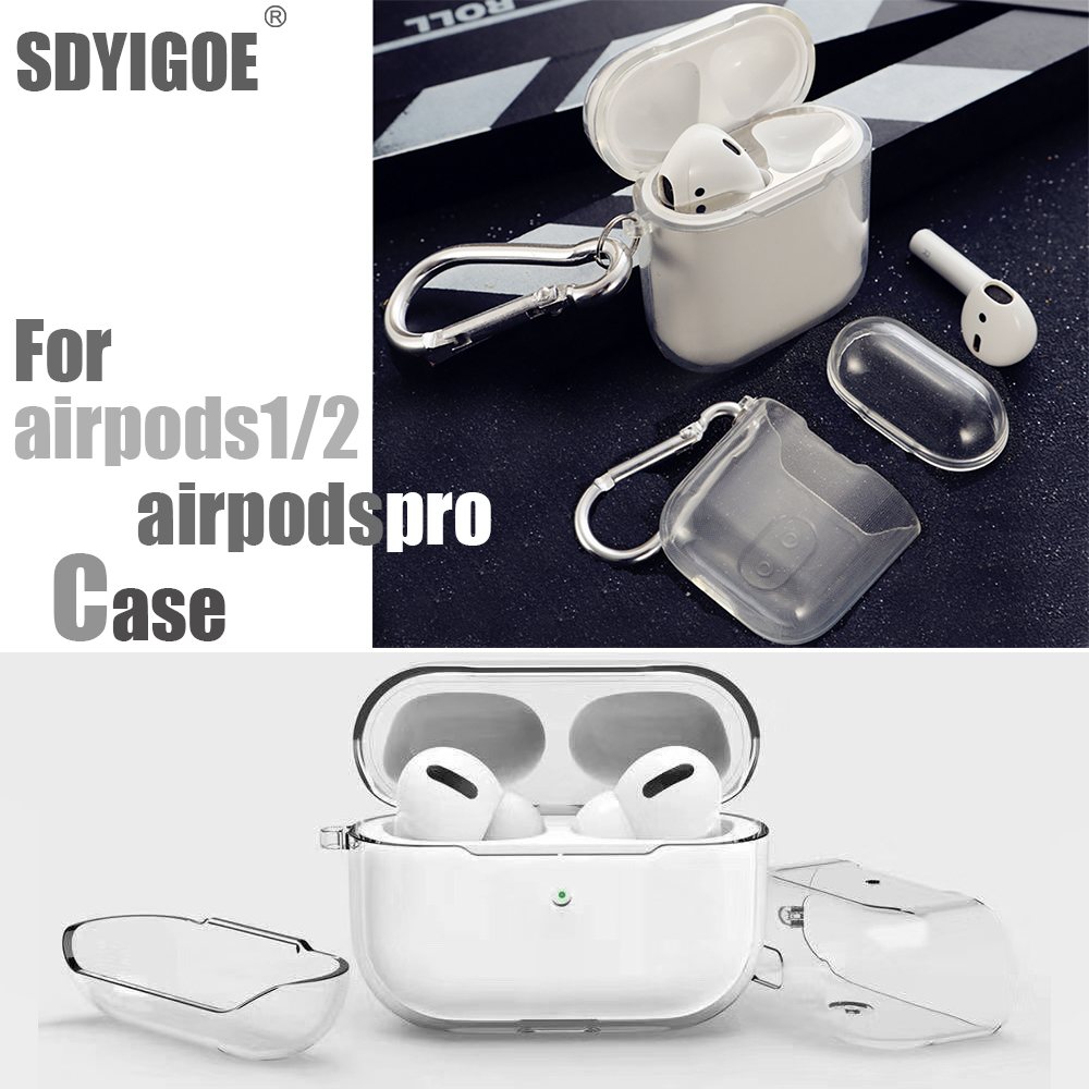 For Airpods Pro Case Cover TPU Clear Simple And Transparent Case For Apple Headphones Accessories Electric Circuit