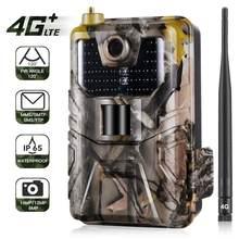 Ftp smtp 4g mms trail câmera sms e-mail sem fio wildlife selvagem caça câmeras celular móvel hc900lte 20mp 1080p visão noturna