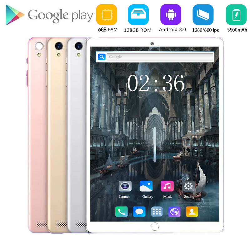 6+128GB Android 8.0 Tablet Pc 10.1 Inch Octa Core 3G/4G LTE Smart Tablet Phone 1280*800 IPS Dual SIM Card WIFI Tablets 10