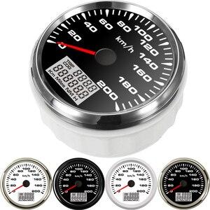 Image 3 - 7 צבעים תאורה אחורית GPS מד מהירות 85mm רכב מד מרחק אוטומטי כוונון טכומטר מכשיר פנל snelheidsmeter מנוע עבור bmw e46