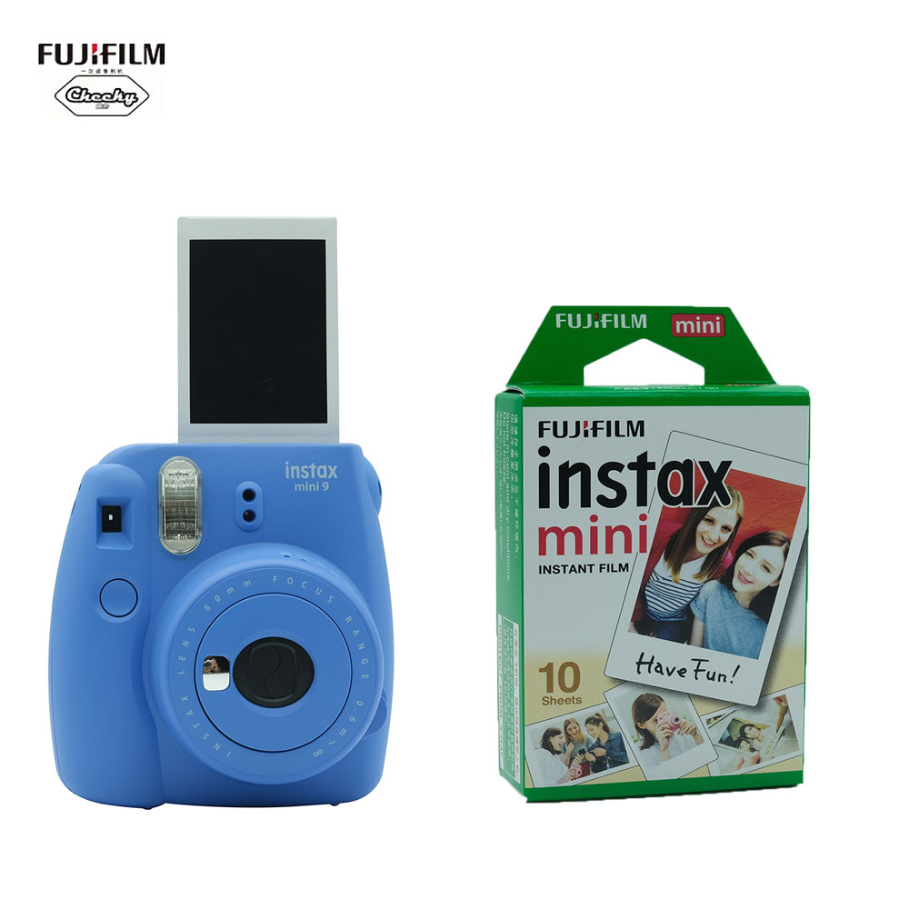 Christmas Gift 5 Colors Fujifilm INSTAX Mini 9 Instant Camera Film Photo Camera + 10 20 Sheets Fujifilm Instax Mini 8 9 Film