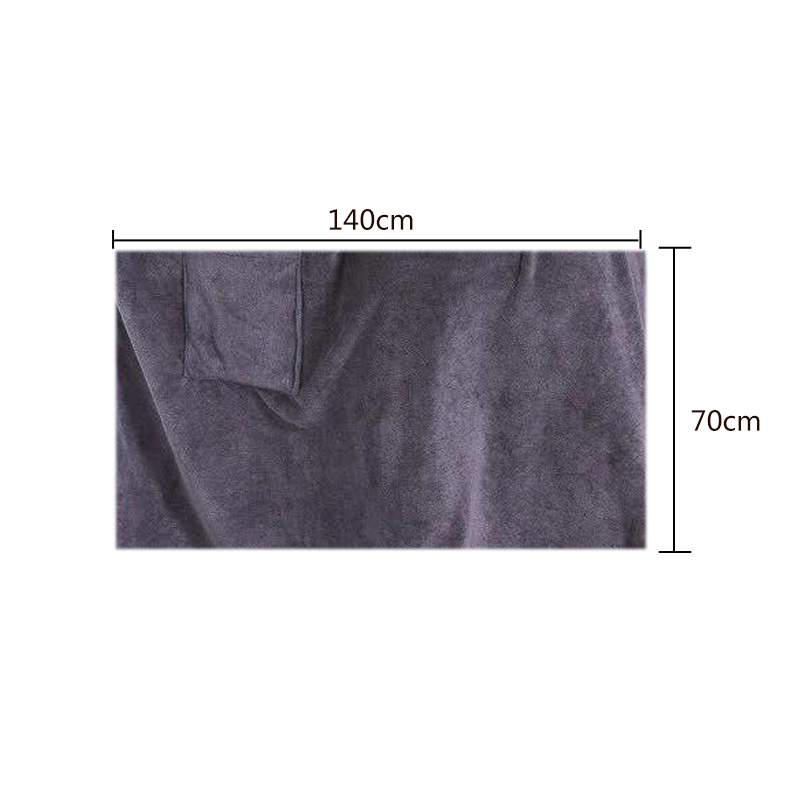 Bath Towel with Pocket dimentions