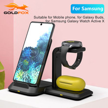 3 in 1 Wireless Charging Dock Station for Samsung Note 20 10 9 S20 S10 S9 8 10W Fast Charger for Galaxy Watch Active/Galaxy Buds
