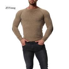Свитера ZYYong осень и зима мужская сплошной цвет шею свободного покроя удобные высокое качество тонкий бренд пуловеры