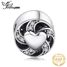 Jewelrypalace 925 Sterling Silver Vintage White Enamel Heart Beads Charm Fit Bracelets Gifts For Her Anniversary Fashion Jewelry недорого