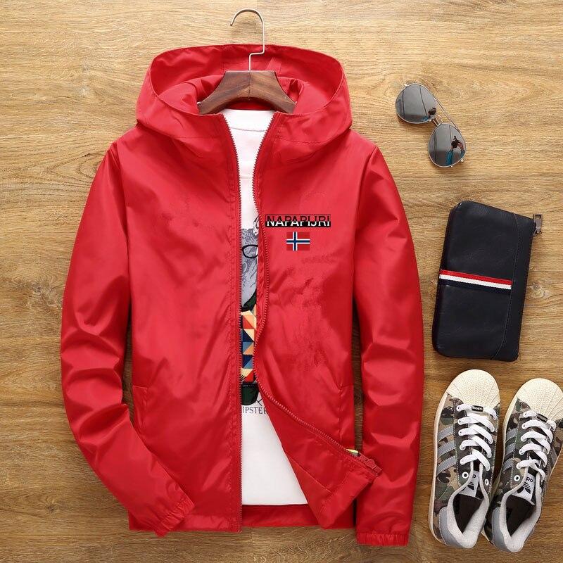 Men's Street Waterproof Jacket Parker Aviator Hooded Windbreaker Thin Zipper Casual Spring Autumn 2021 4
