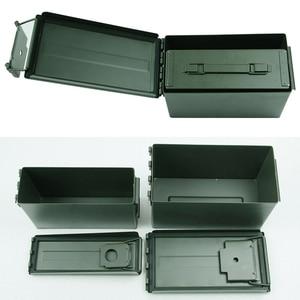 Image 5 - Caja de almacenamiento de munición de Metal, caja de soporte de acero sólido militar, resistente al agua, para almacenamiento de objetos de valor de bala a largo plazo, 30 + 50 Cal/Set