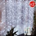 Гирлянда занавеска 3 м x 3 м Сказочный светильник s Рождественский светильник s Крытый 3 м x 1 м гирлянда светодиодный светильник гирлянда свето...