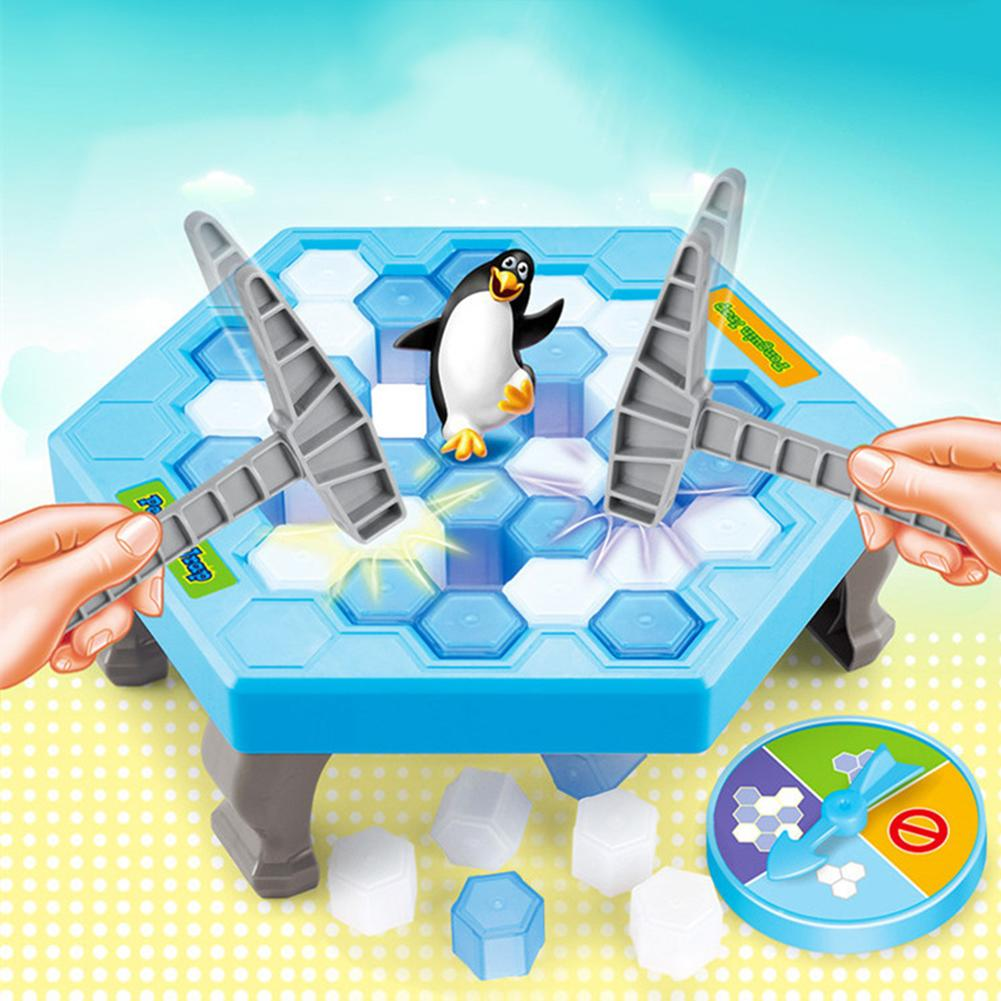 Kids Save Penguin Ice Block Breaker Trap Toys Funny Parent Children Kids Table Game Kids Adult Toy Stress Reliever Decor