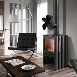 Nuevo ventilador de estufa de camping con imán de alta temperatura 4 hojas montado en la pared ventilador para hogar