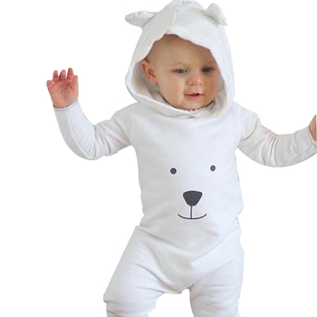 Toddler Baby Clothes Hooded Long Sleeve Boy&Girl Kids Baby Rompers Kids Bear Face romper Autumn New Born Baby Jumpsuit D35 baby rompers autumn long sleeve newborn baby boy girl bear toddler jumpsuit romper baby clothes hooded 2018 cute clothing 2yrs