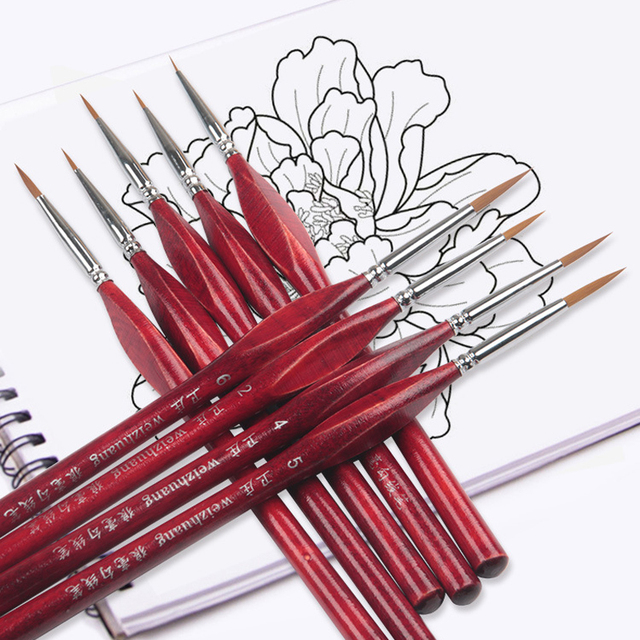 Paint By Numbers Brushes Set Of 6 Extra Fine